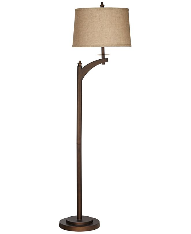 Pacific Coast Metal Floor Lamp with Arm in Bronze