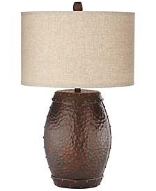 Poly Metal Barrel Table Lamp