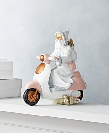 Holiday Lane Dreamland Pink Santa Riding Scooter, Created for Macys