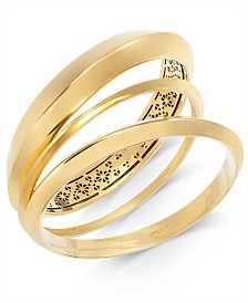 kate spade new york Gold-Tone 4-Pc. Set Bangle Bracelets
