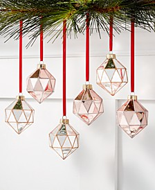 Dreamland Shatterproof Diamond Drop Ornaments, Set of 6, Created for Macy's