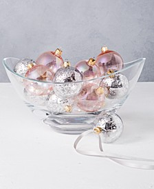 Dreamland Shatterproof Silver & Pink Ornaments, Set of 12, Created for Macy's