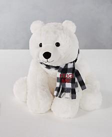 "Holiday Lane Christmas Cheer 16""H Polar Bear Plush, Created for Macys"