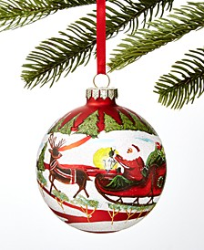 Santa's Favorites Santa Red Ball Ornament, Created for Macy's