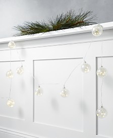 Holiday Lane Shine Bright 6' Glass Ball LED Garland, Created for Macy's