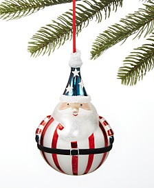 Holiday Lane Patriotic Santa Ornament, Created For Macy's
