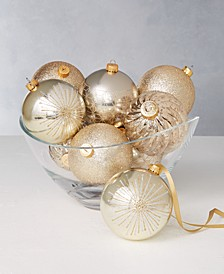 Shine Bright Shatterproof Gold Swirl Ornaments, Set of 9, Created for Macy's