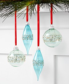 Birds & Boughs 4 piece ornament set, Created for Macy's