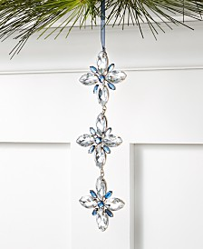 Holiday Lane Tea Party Trio Snowflake Ornament, Created for Macy's