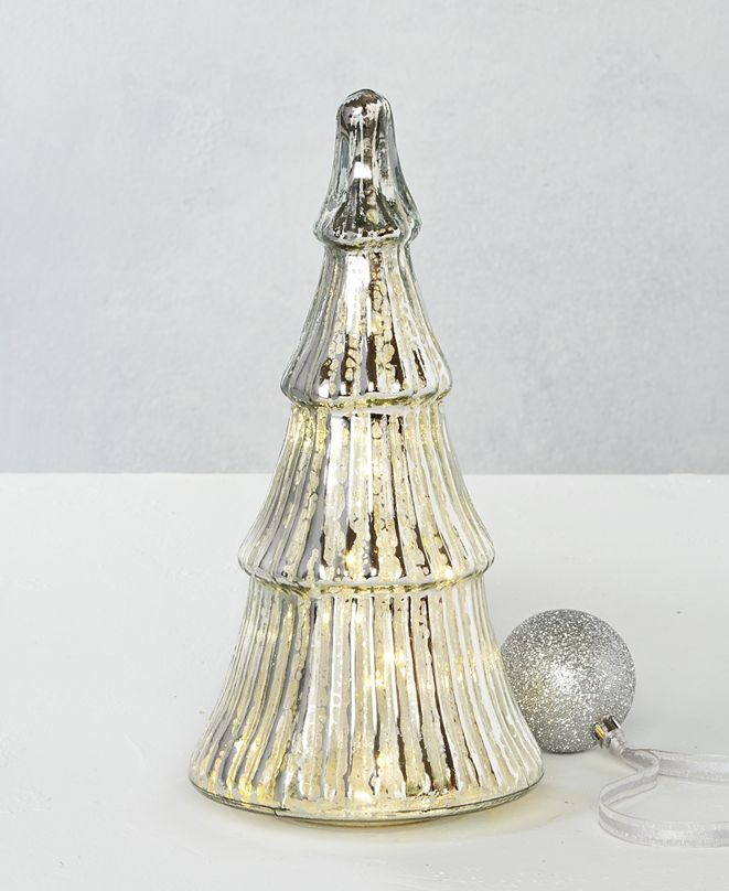 Martha Stewart Collection Silver Woods LED Glass Tree, Created for Macy's