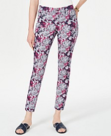 Petite Printed Tummy-Control Jeans, Created for Macy's