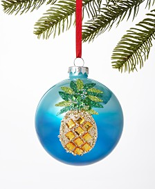 Holiday Lane Hawaii Aloha 2019 Pineapple Ball Ornament, Created for Macy's