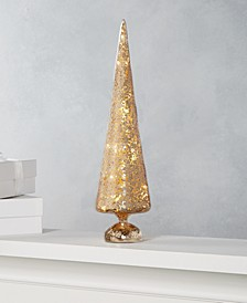 "Midnight Blue 15"" Gold Glass LED Tree, Created for Macy's"