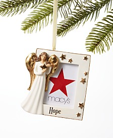 Holiday Lane Joy To The World Hope Angel Photo Frame Ornament, Created for Macy's