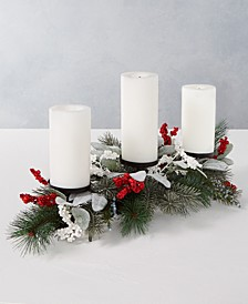 Farmhouse Holidays Red, White & Blue Berry Candle Holder Centerpiece, Created for Macy's