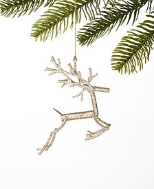 Black Tie Gold Jumping Reindeer Ornament, Created for Macy's