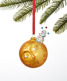 Spaced Out Snowman on Sun Ornament, Created for Macy's