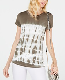 I.N.C. Petite Studded Tie-Dye Top, Created for Macy's