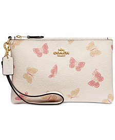 COACH Butterfly Print Small Wristlet