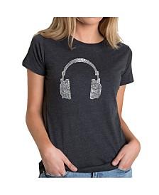 Women's Premium Word Art T-Shirt - 63 Different Genres of Music