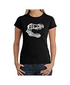Women's Word Art T-Shirt - T-Rex