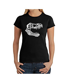 Women's Word Art T-Shirt - T-Rex