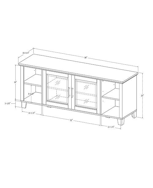 Walker Edison Columbus TV Stand With Middle Doors