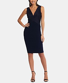 Betsy & Adam Bandage-Detail Sheath Dress