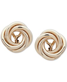 Lauren Ralph Lauren Gold-Tone Knot Clip-On Stud Earrings