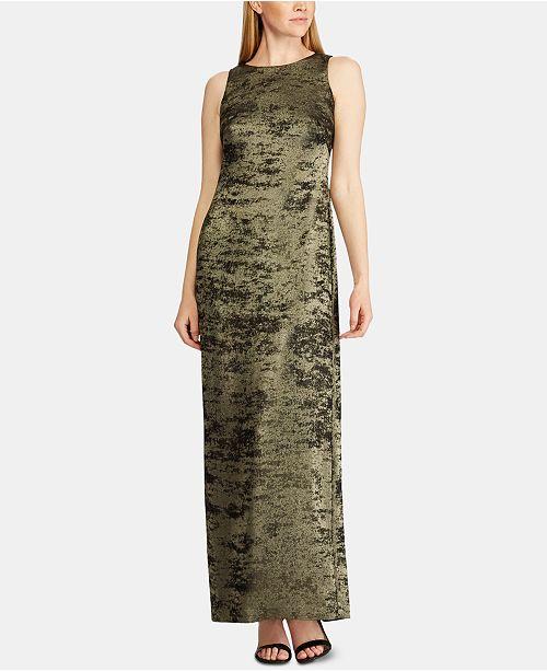 Lauren Ralph Lauren Metallic Jacquard Crepe Gown