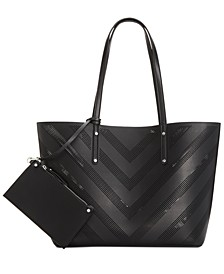 INC Perforated Unlined Tote, Created for Macy's