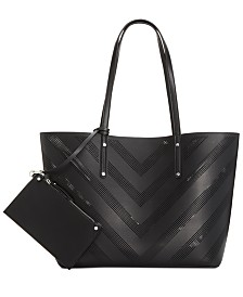 I.N.C. Perforated Unlined Tote, Created for Macy's