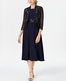 Jessica Howard Petite Lace Jacket & A-Line Dress