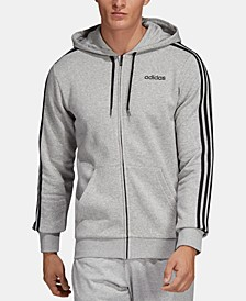 Men's Essentials 3-Stripes Fleece Zip Hoodie