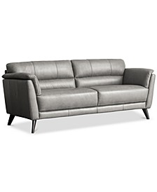 "CLOSEOUT! Lucais 83"" Leather Sofa, Created for Macy's"
