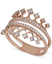 Diamond Tiara Ring (1/2 ct. t.w.) in 14k Rose Gold