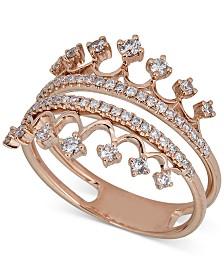 Diamond Tiara Ring (1/2 ct. t.w.) in 14k Rose Gold