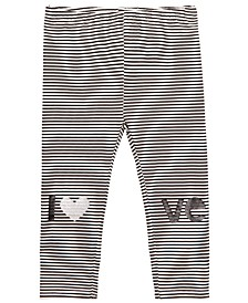 Baby Girls Striped Love Cotton Leggings, Created for Macy's
