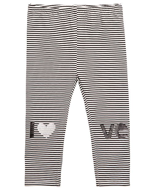 First Impressions Baby Girls Striped Love Cotton Leggings, Created for Macy's