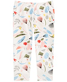 Baby Girls Cotton Bird-Print Leggings, Created for Macy's
