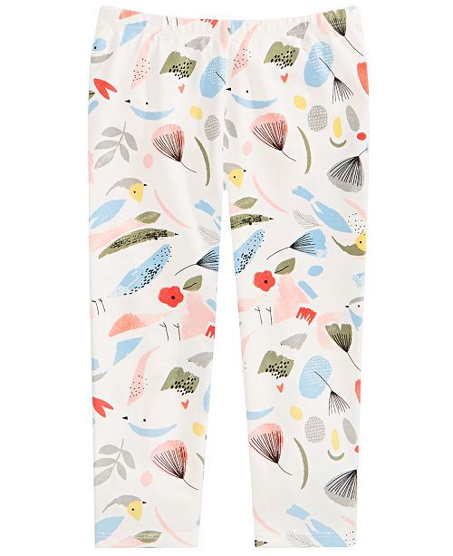 First Impressions Baby Girls Cotton Bird-Print Leggings, Created for Macy's