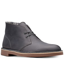Clarks Men's Bushacre 2 Graphite Leather Chukka Boots