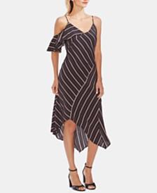 Vince Camuto Asymmetrical Ruffled Dress