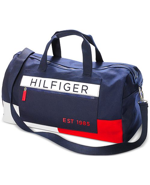 fe2f75cc89 Tommy Hilfiger Men's Colorblocked Canvas Duffel Bag & Reviews - All ...
