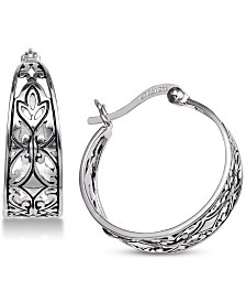 Giani Bernini Filigree Hoop Earrings in Sterling Silver, Created for Macy's