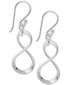 Giani Bernini Infinity Drop Earrings in Sterling Silver, Created for Macy's