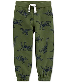 Baby Boys Dinosaur-Print Fleece Jogger Pants