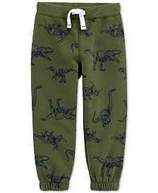 Carter's Baby Boys Dinosaur-Print Fleece Jogger Pants
