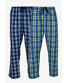 Hanes Men's Big and Tall Woven Sleep Pant, 2 Pack