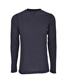 Hanes Men's Big and Tall Sueded Mini Waffle Crew